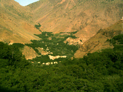 Imlil And Its Valley Facing Westwards