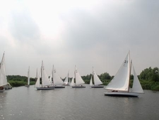 Yachts On The Norfolk Broads
