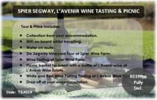 Spier Segway Lavenir Wine Tasting And Picnic