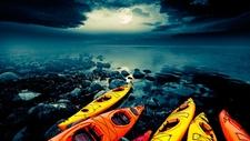 Full Moon Kayak Tour. Lake Tahoe