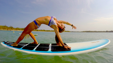Stand Up Paddleboard Yoga Lesson By Rip Curl School Of Surf 1