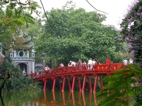 The Huc Bridge - Connection Of Busy Morden Life And Small Ancient Oasis