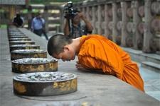 Monk Pray Bodhgaya