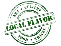 Local Flavor Logo White