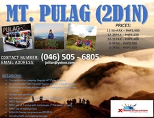 Mt Pulag Tour 1yr Only