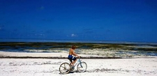 Beach Cycling In Zanzibar