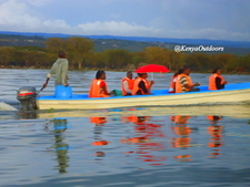 Our Clients Enjoying Boat Ride In Lake Naivasha