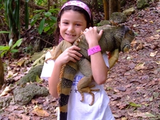 Little Girl With Iguana