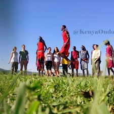Our Clients Entertained By Maasai Community At Maasai Mara National Reserve