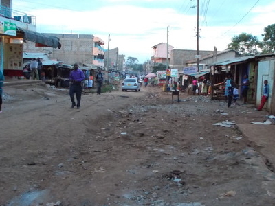 A Typical Side Street In Kasarani