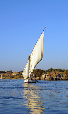 Felucca On The Nile In Aswan