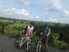 Damon & Roger On Bedugul To Tabanan - Advanced Mtb Tour