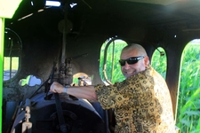 An Australian Tourist Trying His Hand To Drive Olean No.4
