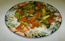 Brocolli Carrots With Boiled Rice