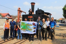Posing In Front Of C1218 Steam Locomotive In Solo
