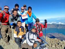 Summit Of Mount Rinjani 3726 Meters