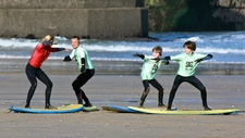 Family Group Surfing Lessons Newquay