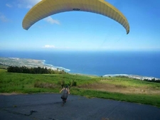 Paragliding Take Off In Saint Leu Reunion Island
