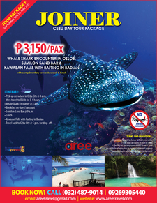 Joiner Cebu Day Tour Package For Sept2016 To June20176