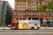 Philadelphia Sightseeing Tours Bus At Bourse Building