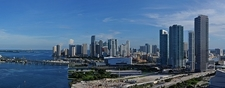 Downtown Miami Skyline Southern View