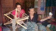 French Client Visited The Ikat Weaving