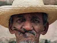 Cigar Smoking Man In Trinidad 1429091resized