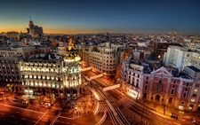 Madrid City At Night
