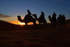 Coucher De Soleil Desert