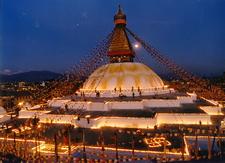 Boudhanath Stupa Lights