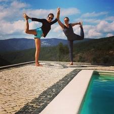 Yoga At Swimming Pool
