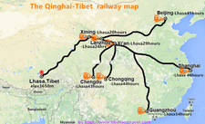 These 7Chinese Cities Have Runnning The Train To Tibet Since 2006 To 2018