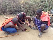 Maasai People Making Fire