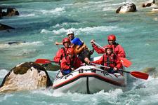 Rafting On Soca River Outdoor Galaxy Bovec Slovenia