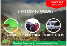 Combo 3 In 1 Ijen Tour And Shuttle To Denpasar