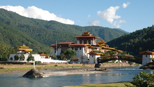 Punakha Dzong (Palace Of Great Bliss) In Western Bhutan Built In 1637 AD.