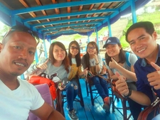 We Had A Nice Photo With Our Customers On The Boat Ride Of Tonle Sap Lake, Siem Reap, Cambodia.