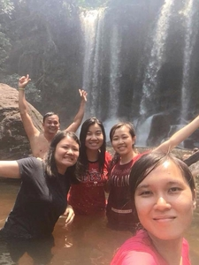 My Customers Had A Nice Photo At Kolen Mountain (Water Fall) , Siem Reap, Cambodia.