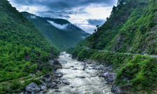 Kosi River Valley Near Almora Uttarakhand India
