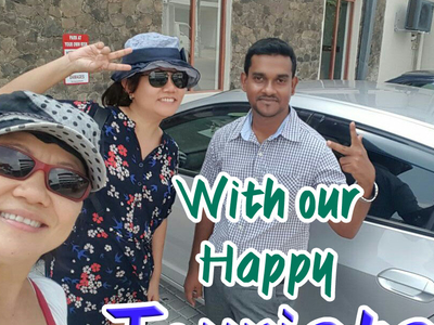With Our Happy Tourist