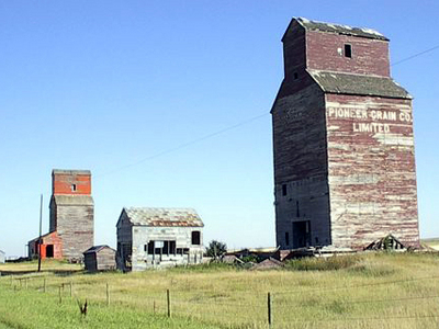 Abandoned Grain Elevators In Neidpath