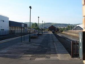 La estación de tren de Aberystwyth