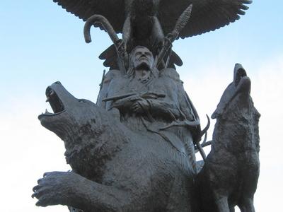 Aboriginal  War  Veterans Monument   2 8close  2 9