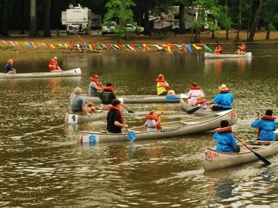 A Canoe Race At The Park