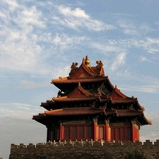 A Corner Tower Of The Forbidden City
