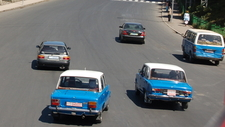 The Distinctive Addis Ababa Blue Taxis.