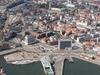 Aerial View Of Aarhus City Centre Amp South Harbour
