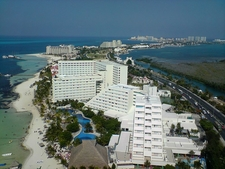 Aerial View Of The Cancun Island