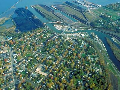 Aerial View Of The Port At Ashtabula
