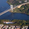 Aerial View Of The Triborough Bridge Left And The Hell Gate Brid